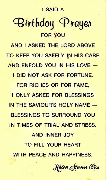 June's Birthday Prayer