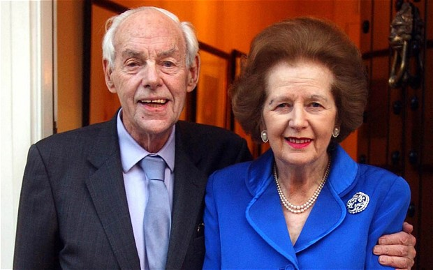 Thatcher and husband