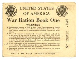 War Ration Book Cover