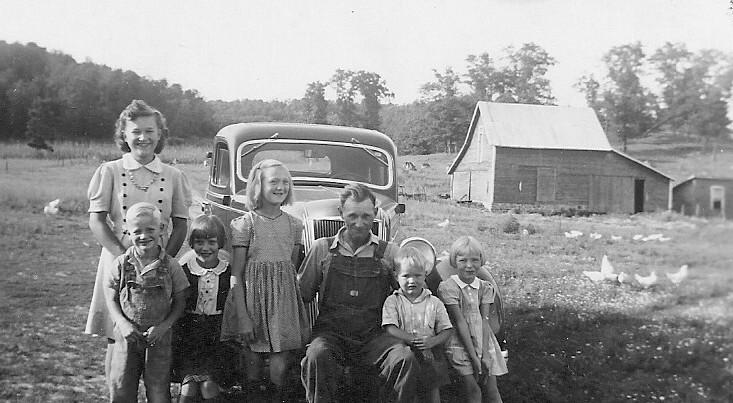 Rolstad Family and family car 1940's
