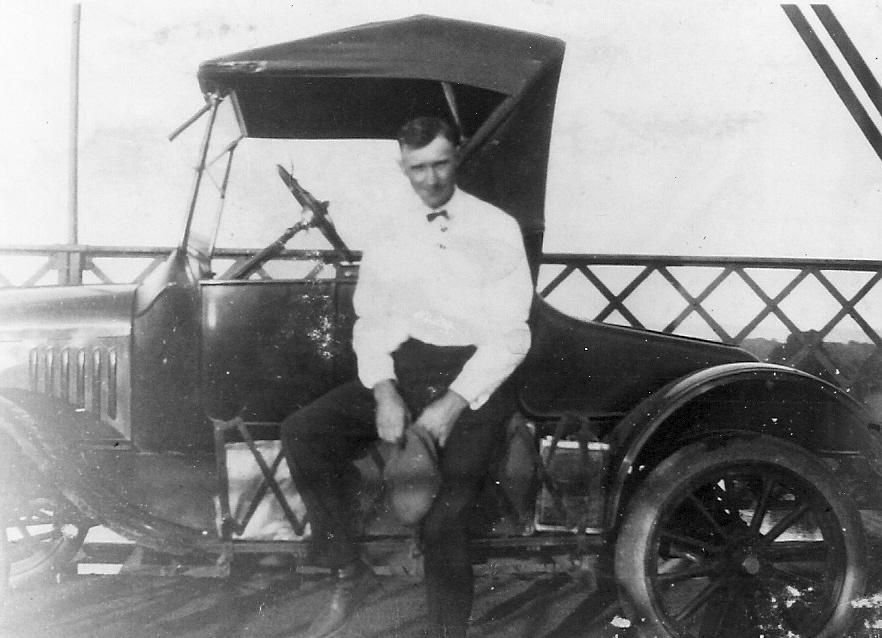 Henry Rolstad and his Model T Ford 1923