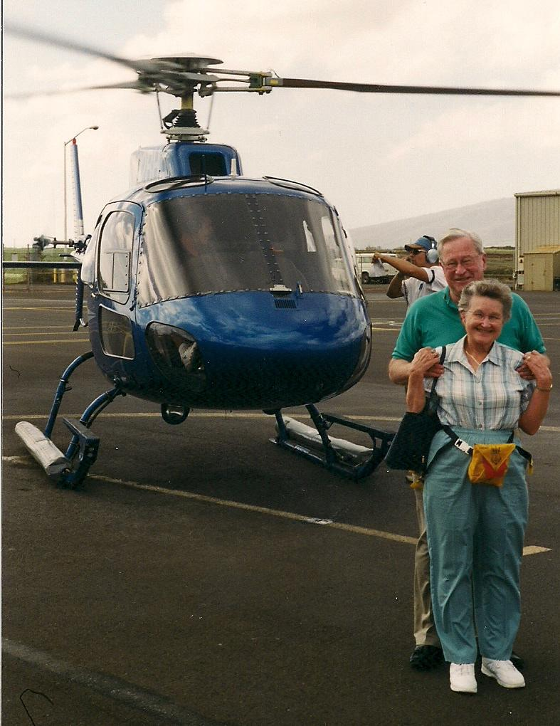 June and helicopter view of Hawaii 2000