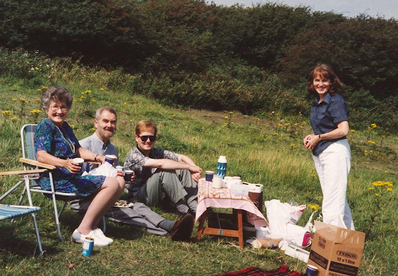 June with Bruce Family at Picnic 1993