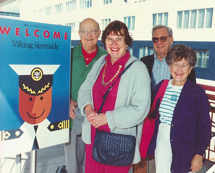 June Berg on Cruise 1993 with Rivards