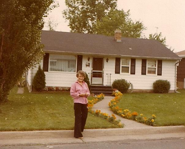 June in front of Duluth Home in 1978