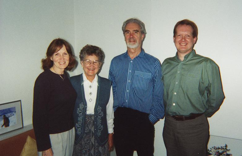 June with Joan and Gordon Bruce family 1999