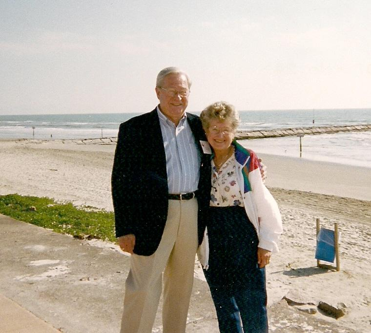 June and Stan at Galveston Bay, 1999