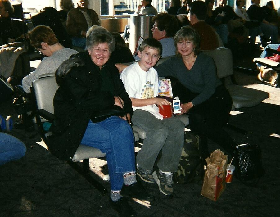 June with daughter Susan and Grandson Daniel 2004